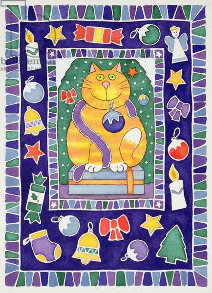 A Cat's Christmas, 1995 (w/c)