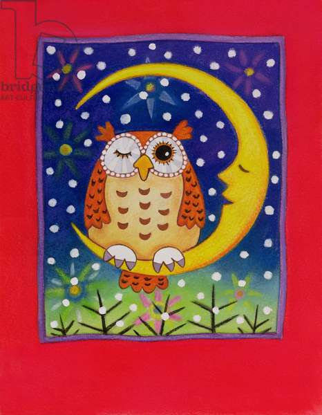The Winking Owl, 1997 (pastel on paper)