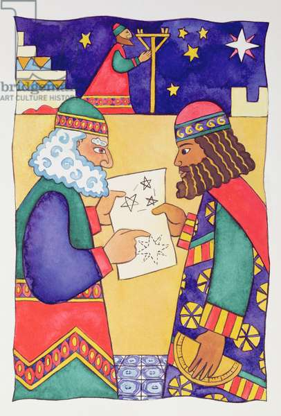 The Wise Men Looking for the Star of Bethlehem