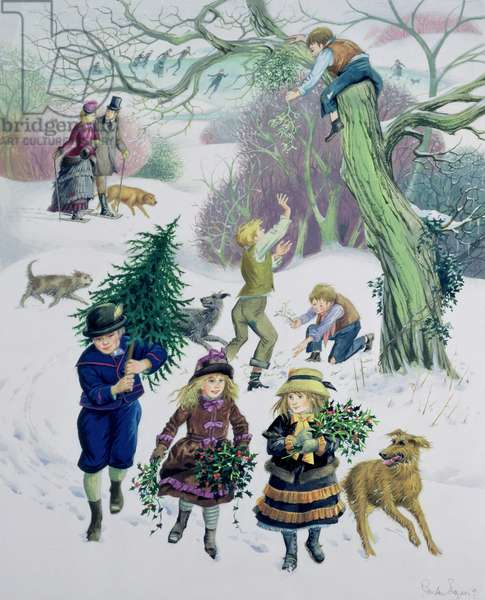Christmas Preparations - 1870