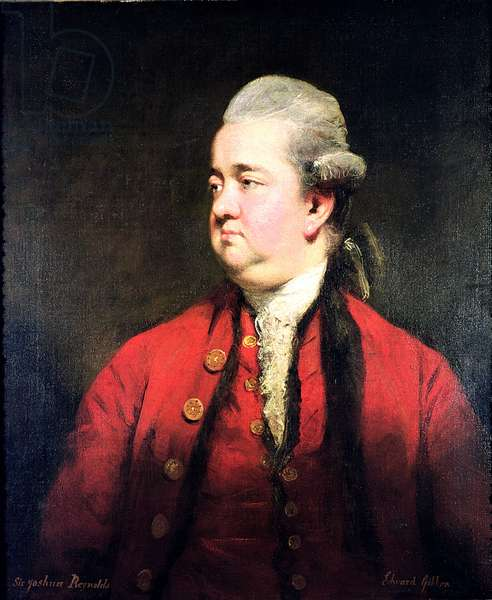 Portrait of Edward Gibbon (1737-94) c.1779 (oil on canvas)