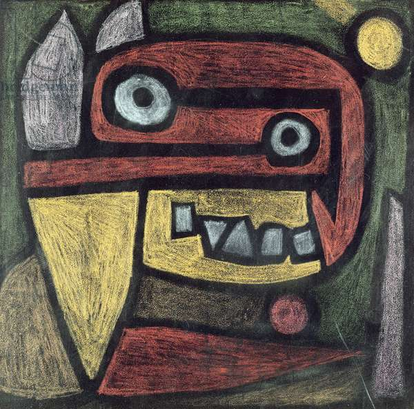 Untitled (Mask: wild animal) c.1939 (coloured pencil & coloured paste on paper)