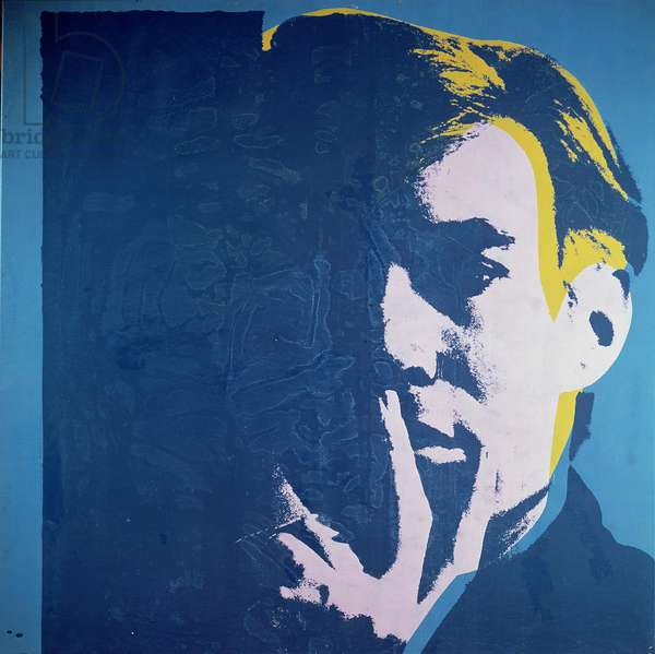 Self Portrait, 1967 (acrylic & silkscreen enamel on canvas)