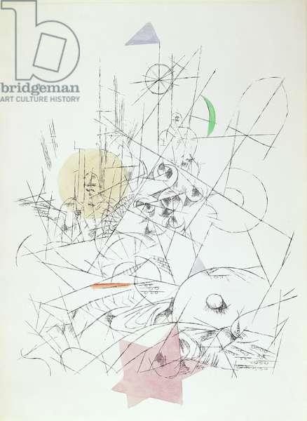 Destruction and Hope, 1916 (hand-coloured litho)