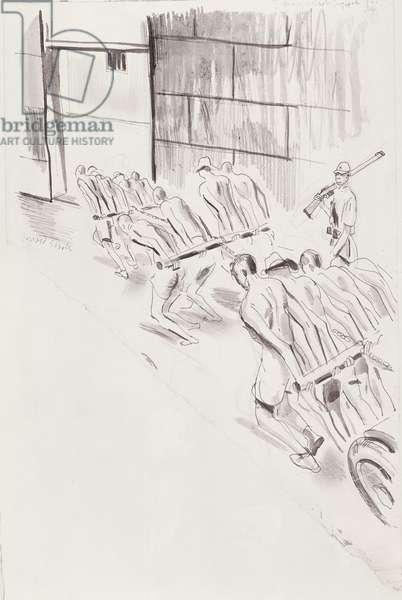 Changi Gaol, Singapore, July 1944 (pen & ink on paper)