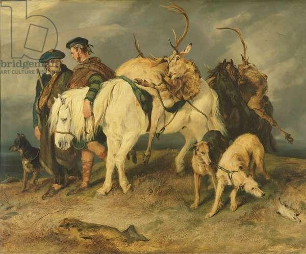 The Deerstalkers' Return, 1827 (oil on canvas)