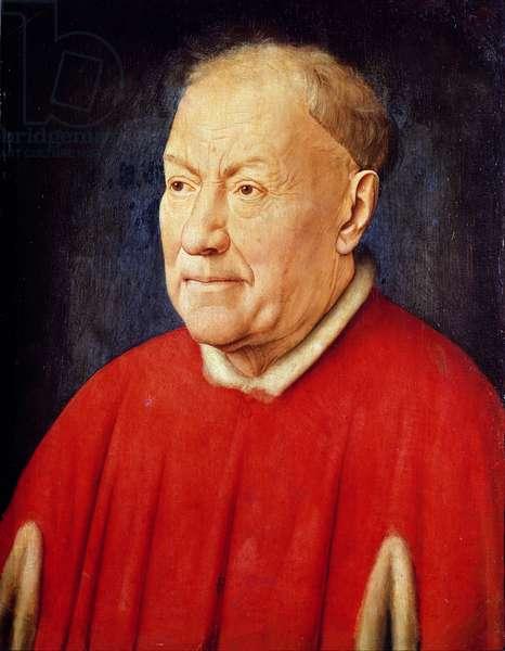Portrait of Cardinal Albergati (oil on panel)