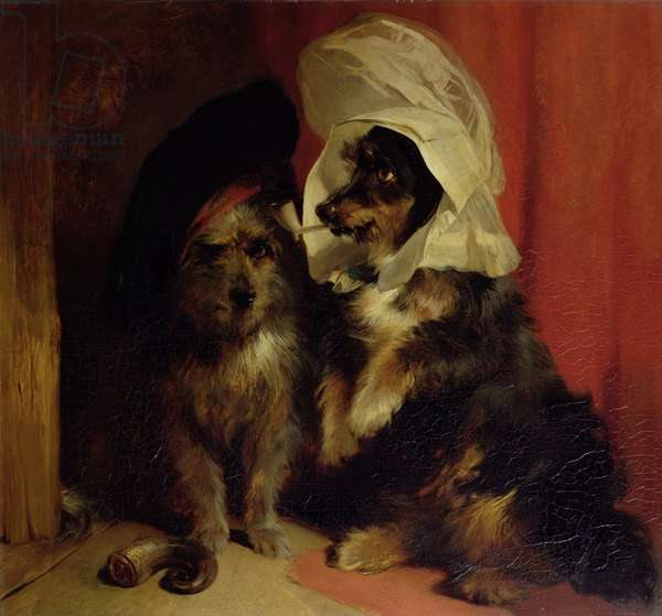 Comical Dogs, 1836 (oil on canvas)