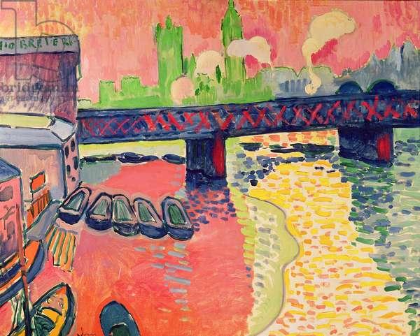 Charing Cross Bridge, London, 1906 (oil on canvas)