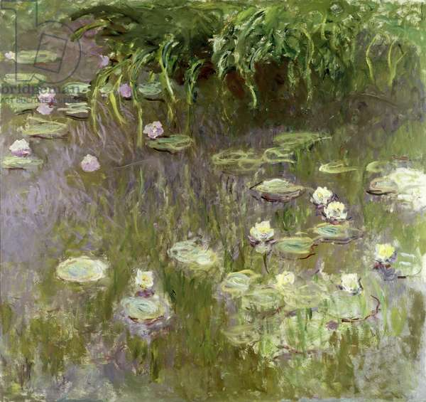 Waterlilies at Midday, 1918 (oil on canvas)