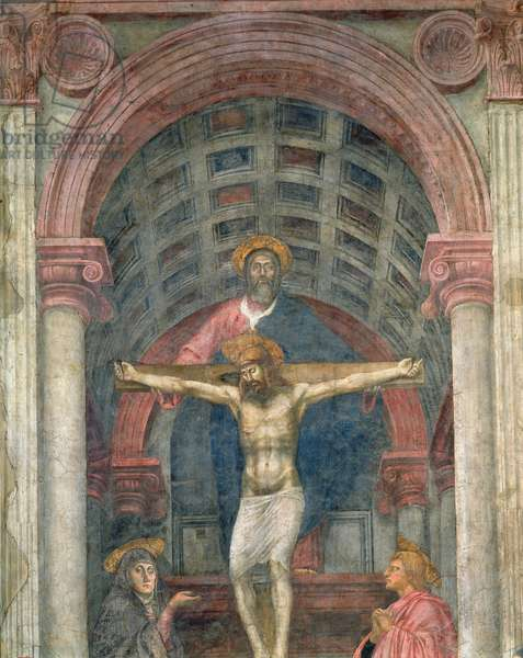 The Trinity, 1427-28 (fresco) (detail)