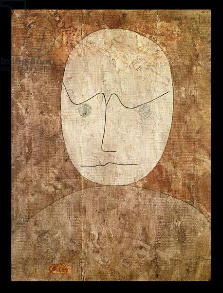 Scholar, 1933 (no 286) (w/c & brush on primed gauze on wooden panel)