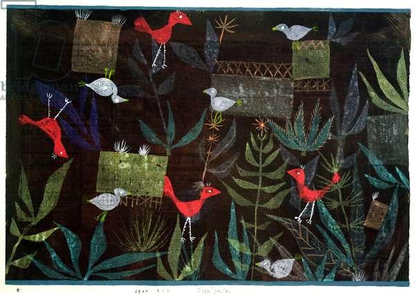 Bird Garden, 1924 (no 223) (w/c on primed paper on cardboard)