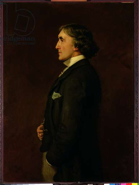 Portrait of Henry Irving (1870-1919) (oil on canvas)