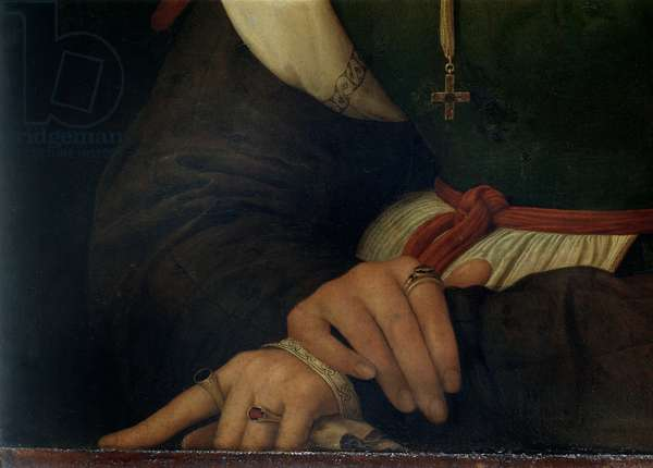 Portrait of a Woman (La Muta), 1507 (oil on canvas) (detail) (see 21465, 205588)