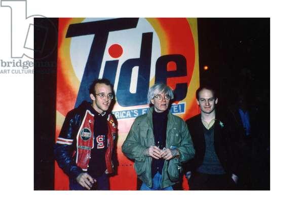 Keith Haring, Andy Warhol and Sean Hauseman, New York, 1984 (photo)