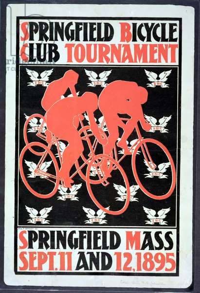 The Springfield Bicycle Club Tournament, 1895 (colour litho)
