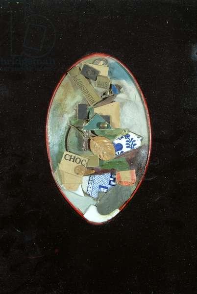 Mirror (mixed media on ivory with velvet surround)