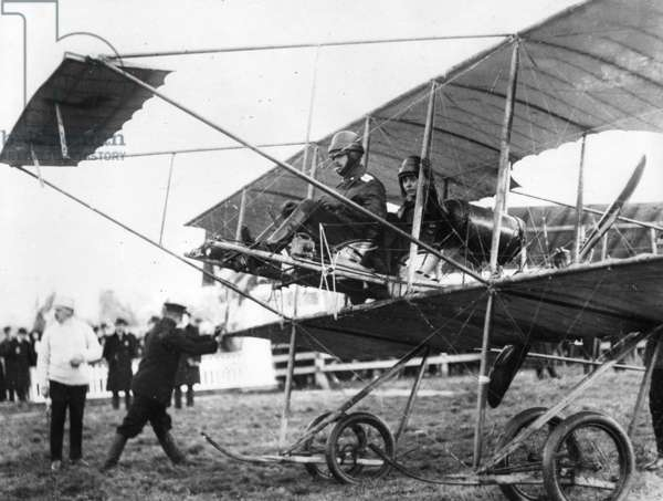 Igor Ivanovich Sikorsky, one of the great pioneers of aviation, 1913 (b/w photo)