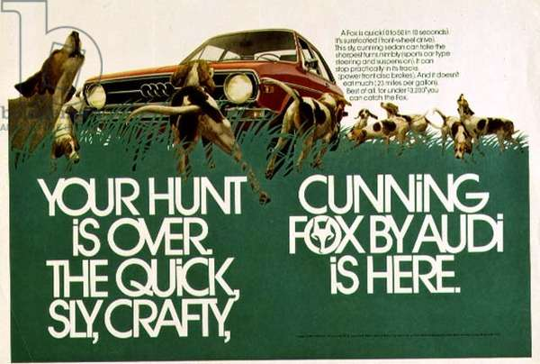 Audi advertising poster for the Fox, early 1970's (see also 88095)