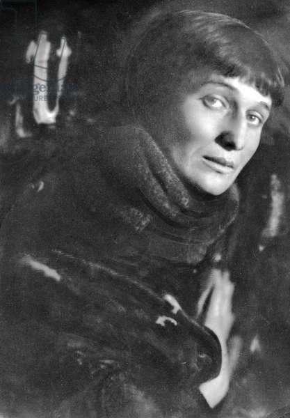 Anna Akhmatova (b/w photo)