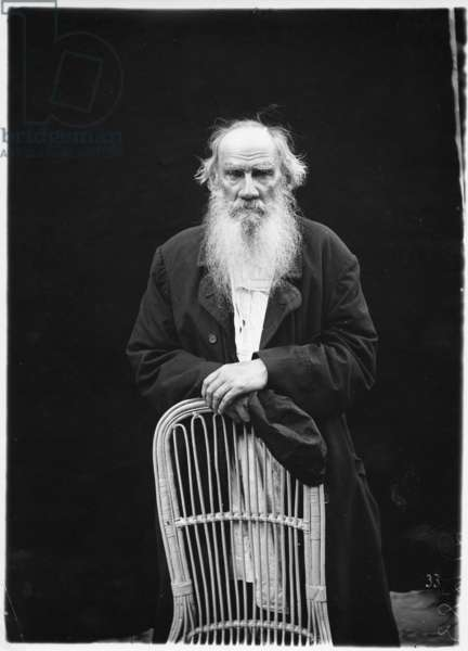 Leo Tolstoy, c.1908 (b/w photo)