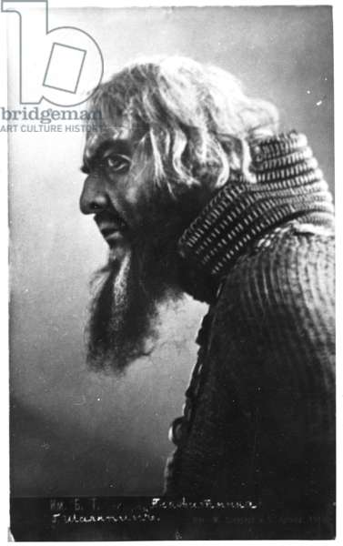 Feodor Ivanovich Chaliapin in the role of Ivan the Terrible from Rimsky-Korsakov's opera 'The Maid of Pskov', c.1909 (b/w photo)