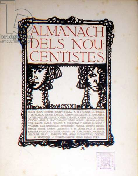 Cover of the `Almanach dels Noucentistes`, designed by Josep Aragay, 1911