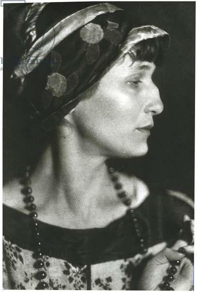 Anna Akhmatova, 1927 (b/w photo)