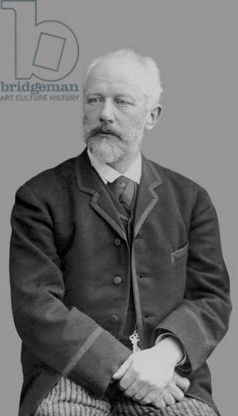 Pyotr Ilyich Tchaikovsky, c.1890 (b/w photo)
