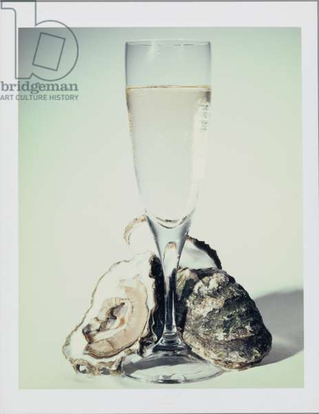 Oysters and Champagne, Milan, Italy, 1987 (photo)