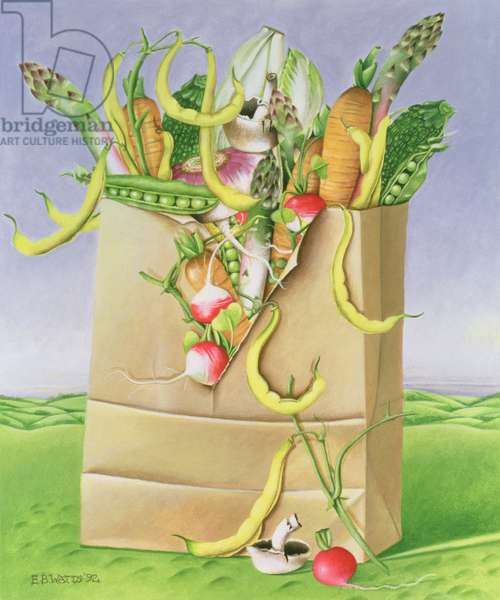Paper Bag with Vegetables, 1992 (acrylic)