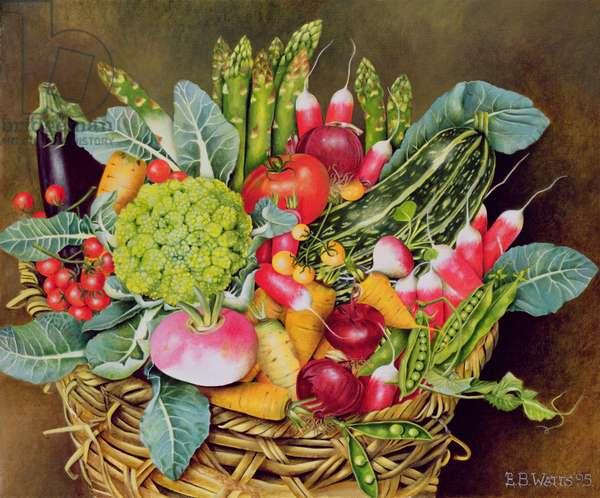 Summer Vegetables, 1995 (acrylic)