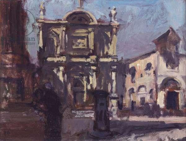 San Rocco, Venice, 1972 (oil on panel)