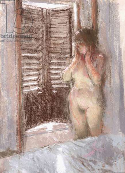 The Shuttered Window, 1986 (pastel)