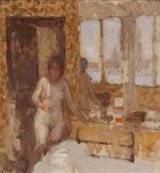 Morning Sun, Venice, 1986 (oil on canvas laid on board)