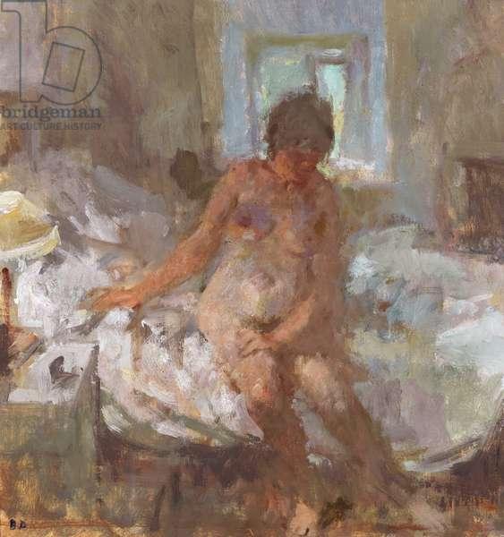 Dressing, Dark Morning, 1988 (oil on canvas laid on board)