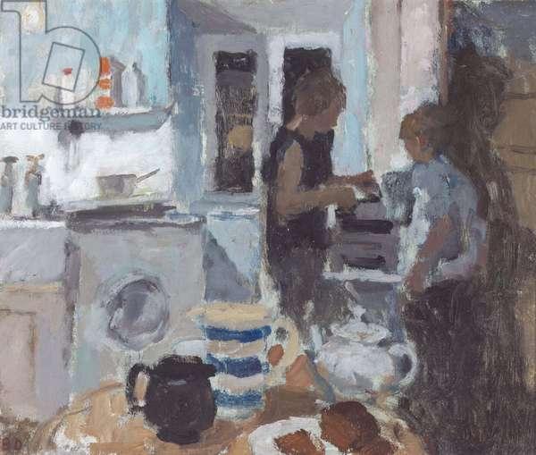 The Kitchen II, 1968 (oil on panel)