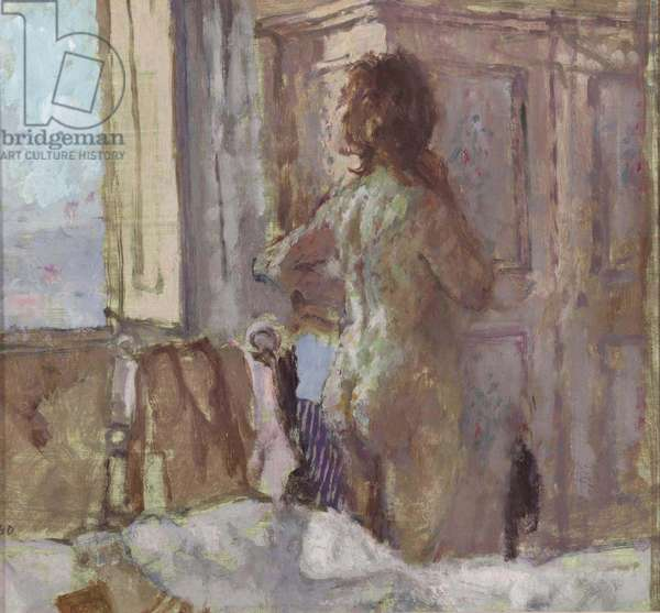 The Painted Wardrobe, San Gimignano, 1974 (oil on canvas board)