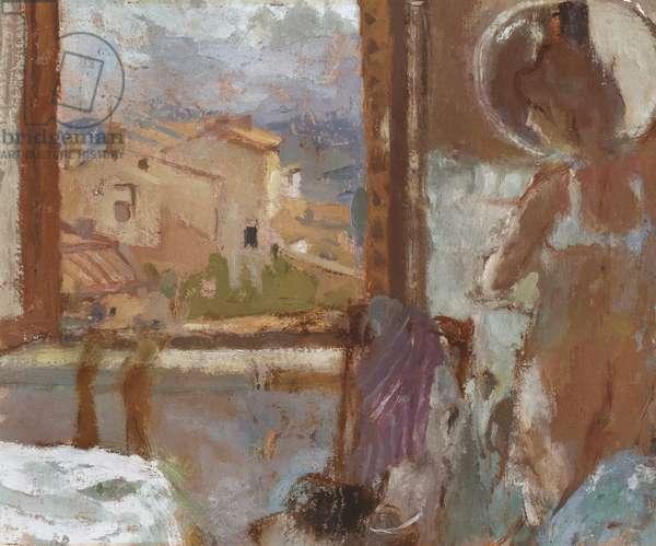 San Gimignano, c.1976 (oil on canvas laid on board)