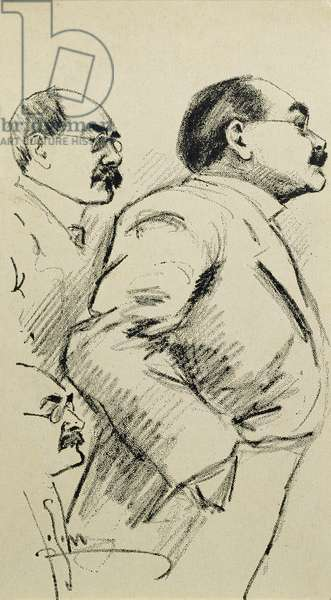 Portrait of Rudyard Kipling (1865-1936) three studies (litho)