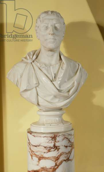 Bust of William Pitt the Elder, 1st Earl of Chatham (1708-78) (marble)