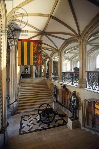 The Guard Room, Belvoir Castle, Leicestershire (photo)
