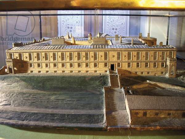 Model of the Charles II Castle, 1799 (mixed media)