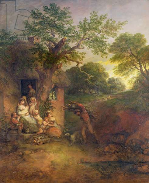 Woodcutter's Home, c.1780 (oil on canvas)