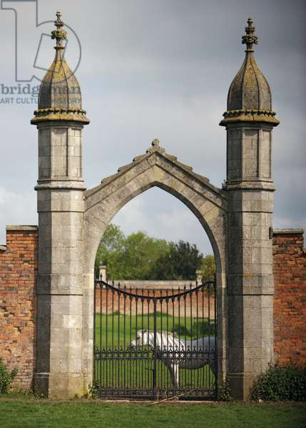 One of the gates to the Kitchen Garden, Belvoir Castle, Leicestershire (photo)