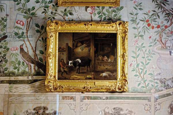 'The Ox-Stall' by David Teniers the Younger, in the Chinese Bedroom (photo)