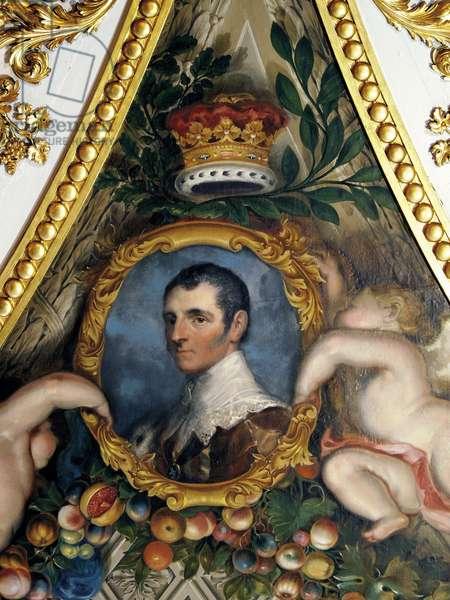 Portrait of the 5th Duke of Rutland, Ceiling of the Elizabeth Saloon (fresco)