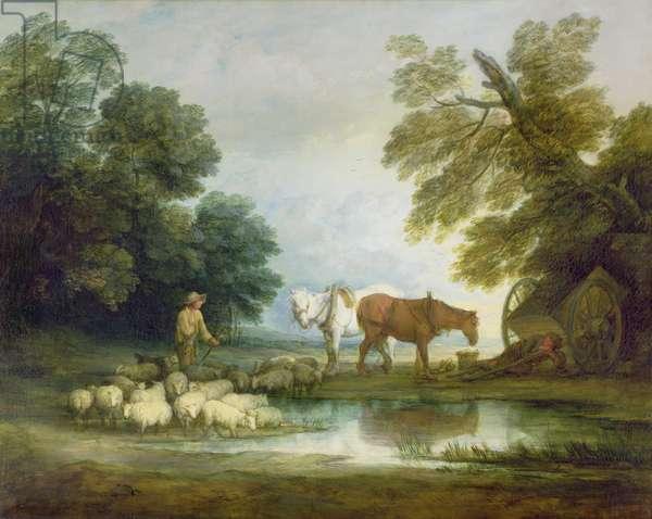 Shepherd by a Stream