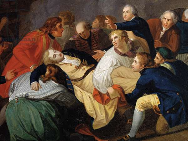 The Death of Lord Robert Manners (oil on canvas)